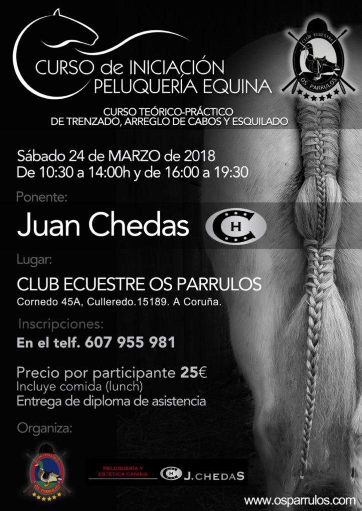 Curso de peluquería equina, Juan Chedas